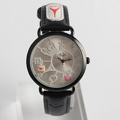 pentru Doamne Ceas La Modă Quartz / PU Bandă Casual Negru Negru
