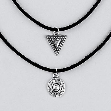 Damskie Zestawy biżuterii Naszyjniki z wisiorkami Geometric Shape Biżuteria Skórzany Stop Postarzane euroamerykańskiej minimalistyczny