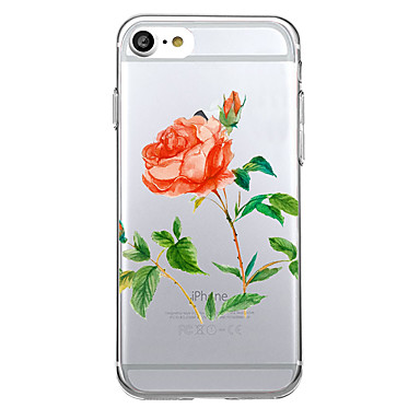 Na Ultra cienkie Przezroczyste Kılıf Etui na tył Kılıf Kwiat Miękkie TPU na AppleiPhone 7 Plus iPhone 7 iPhone 6s Plus iPhone 6s iPhone