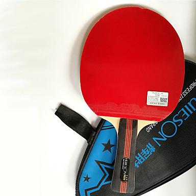 3 Stele Ping Pang/Tenis de masă Rackets Ping Pang Culoarea Lemnului Mâner Scurt Cosurile