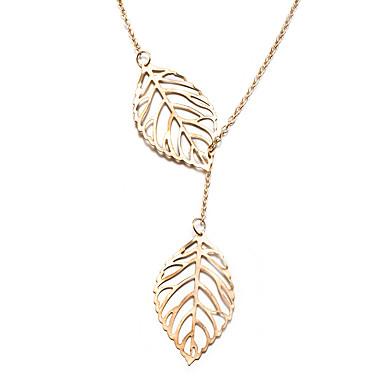 Damskie Leaf Shape Podstawowy Modny Naszyjniki z wisiorkami Biżuteria Pozłacane Naszyjniki z wisiorkami , Prezenty bożonarodzeniowe Ślub