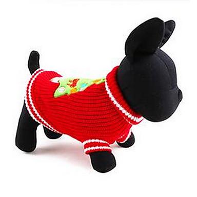 Pies Płaszcze Ubrania dla psów Ciepły Urocza Codzienne Stały Czerwony Niebieski Kostium Dla zwierząt domowych