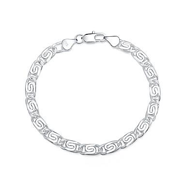 Bilezikler Zincir & Halka Bileklikler Gümüş Kaplama Geometric Shape Moda Mücevher Hediye Gümüş,1pc