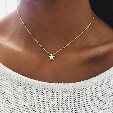 cheap Necklaces-Women's Pendant Necklace Floating Star Dainty Ladies Unique Design Dangling Alloy Gold Silver Necklace Jewelry For Birthday Engagement Daily Casual