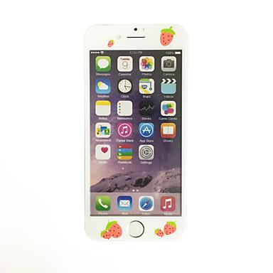 για apple iphone 7 4,7 ιντσών γυαλί με μαλακό άκρο πλήρη κάλυψη της οθόνης μοτίβο μπροστά προστατευτικό οθόνης κινουμένων σχεδίων φράουλα