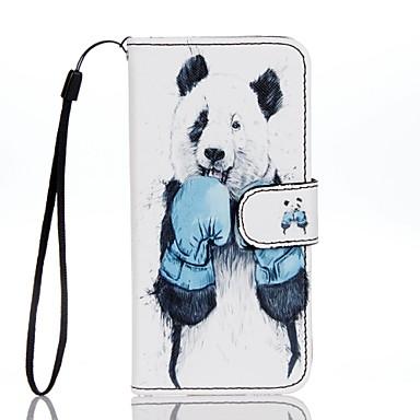 Kılıf Na Apple iPhone 7 Plus iPhone 7 Etui na karty Portfel Z podpórką Flip Wzór Pełne etui Panda Zwierzę Twarde Skóra PU na iPhone 7