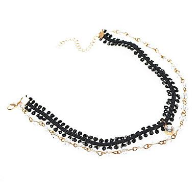 Γυναικεία Κολιέ Τσόκερ Κρυστάλλινο Κρύσταλλο Δαντέλα Κράμα Μοντέρνα Εξατομικευόμενο Euramerican μινιμαλιστικό στυλ Μαύρο Κοσμήματα