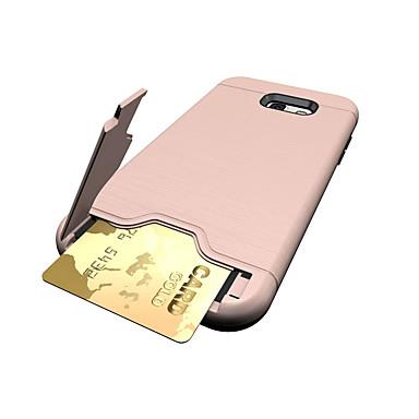 Maska Pentru Samsung Galaxy A5(2017) A3(2017) Titluar Card Cu Stand Carcasă Spate Culoare solidă Greu PC pentru A3 (2017) A5 (2017) A7