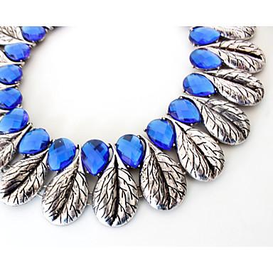 Kadın Tellerinin Kolye Mücevher Mücevher Değerli Taş alaşım Moda Kişiselleştirilmiş Euramerican Avrupa lüks mücevher Açık Mavi Mücevher
