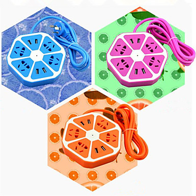 älykäs socket sitruuna monikäyttöinen neljä usb lataus satamien turvallisuuden socket värikkäitä hedelmiä