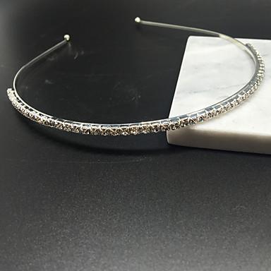 Srebrny Kryształ Rhinestone pałąk kobiety dziewczyna dorywczo wesele