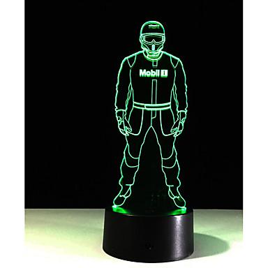 1pc dokunmatik 7 renkli polis lamba 3d ışık renk görme stereo renkli degrade akrilik lamba gece lambası vizyon açtı