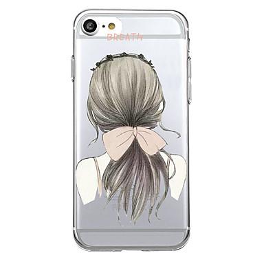 Kılıflar Kapaklar Apple için Arka Kılıf Ultra İnce Şeffaf Seksi Kadın Yumuşak TPU iPhone 7 Plus iPhone 7 iPhone 6s Plus iPhone 6s iPhone