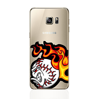 Pouzdro Uyumluluk Samsung Galaxy S7 edge S7 Temalı Arka Kapak Karton Yumuşak TPU için S7 edge S7 S6 edge plus S6 edge S6 S5 S4