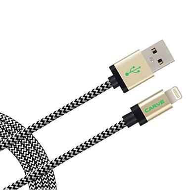 Iluminação Adaptador de cabo USB Cabo para Carregador Cabo Tipo Corda para Carregador Dados & Sincronização Cabo Tipo Corda Entrançado