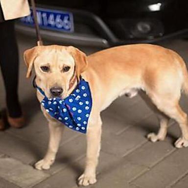 كلب ياقة قابل للسحبقابل للتعديل الحب قماش أحمر أزرق