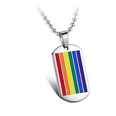 تعليقات Geometric Shape الصلب التيتانيوم تصميم بسيط موضة غني بالألوان مجوهرات من أجل يوميا فضفاض