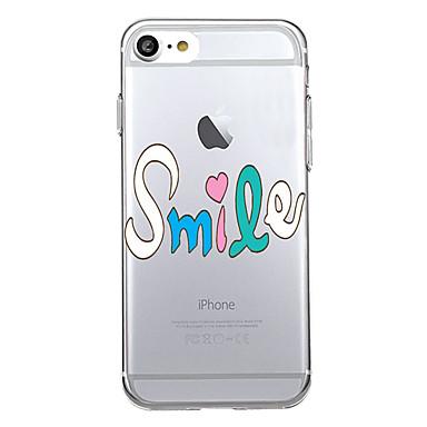 Na Etui Pokrowce Ultra cienkie Przezroczyste Etui na tył Kılıf Napis Miękkie Poliuretan termoplastyczny na Apple iPhone 7 Plus iPhone 7