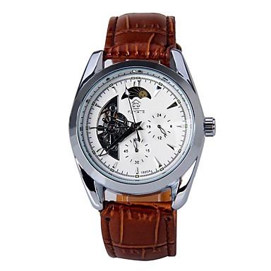 Męskie Modny zegarek mechaniczny Nakręcanie automatyczne Kalendarz PU Pasmo Nowoczesne Na co dzień Czarny Brązowy Black Brown