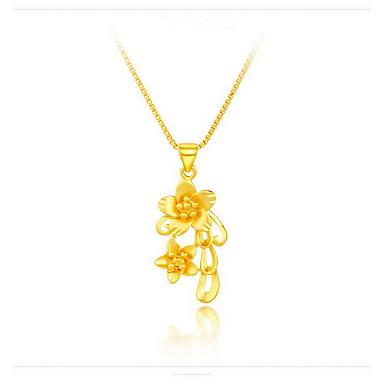 Naszyjniki z wisiorkami Flower Shape Wąż Rose Srebro standardowe Pozłacane 18K złoty Wiszący Kwiaty Modny Biżuteria Na Urodziny Codzienny