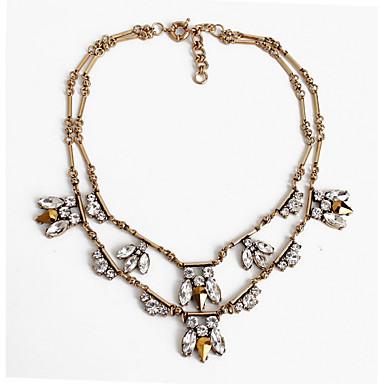 Dame Coliere Layered Bijuterii Bijuterii Piatră Preţioasă AliajLa modă Personalizat Euramerican Strat dublu bijuterii de lux European