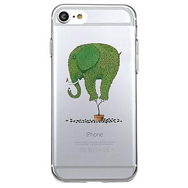 Kılıflar Kapaklar Apple için Arka Kılıf Ultra İnce Şeffaf Hayvan Yumuşak TPU iPhone 7 Plus iPhone 7 iPhone 6s Plus iPhone 6 Plus iPhone