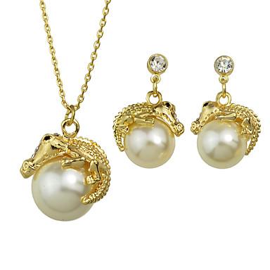 قلائد الحلي سبيكة تصميم بسيط ذهبي مجوهرات إلى فضفاض 1SET