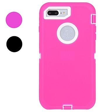 من أجل iPhone X إفون 8 iPhone 8 Plus أغط / كفرات ضد الصدمات مقاوم للماء كامل الجسم غطاء لون الصلبة ناعم مطاط إلى Apple iPhone X iPhone 8