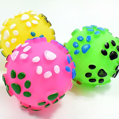 Zabawka dla kota Zabawka dla psa Zabawki dla zwierząt Owalne Zabawki do żucia Interaktywne Zabawka do czyszczenia zębów Pisk Elastyczny