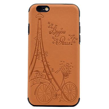 Pouzdro Uyumluluk Apple Süslü Temalı Arka Kılıf Eiffel Kulesi Yumuşak PU Deri için iPhone 7 Plus iPhone 7 iPhone 6s Plus iPhone 6 Plus