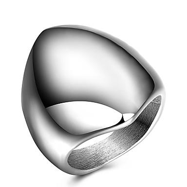Yüzük Bildiri Yüzüğü Band Yüzük Gümüş Titanyum Çelik Diğerleri Geometric Shape Kişiselleştirilmiş Eşsiz Tasarım Euramerican Hiphop Moda