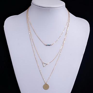 Γυναικεία Κολιέ Τσόκερ Κοσμήματα Κρυστάλλινο Κοσμήματα Κράμα μινιμαλιστικό στυλ Χάντρες Πολυεπίπεδο Ευρωπαϊκό Μοντέρνα Εξατομικευόμενο