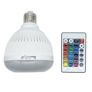 4W 400-500 lm E26 E27 Bulbi LED Inteligenți led-uri Bluetooth Intensitate Luminoasă Reglabilă Telecomandă RGB AC85-265 AC 85-265V