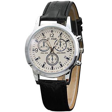 Męskie Modny Zegarek na nadgarstek Kwarcowy PU Pasmo Nowoczesne Na co dzień Czarny Brązowy