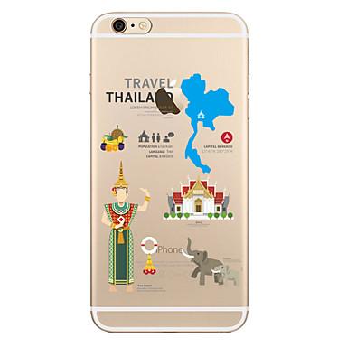 Etui Käyttötarkoitus Apple iPhone X iPhone 8 Plus Läpinäkyvä Kuvio Takakuori Elefantti Pehmeä TPU varten iPhone X iPhone 8 Plus iPhone 8