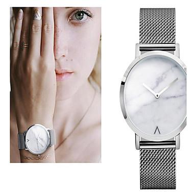 Pentru femei Ceas de Mână Marmură / Mare Dial Oțel inoxidabil Bandă Charm / Vintage / Punct Argint / Auriu / Roz auriu