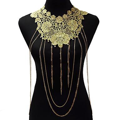Κοσμήματα Σώματος/Body Αλυσίδα / κοιλιά Αλυσίδα Κράμα Δαντέλα Flower Shape Μοντέρνα Βοημία Style Χρυσαφί 1pc