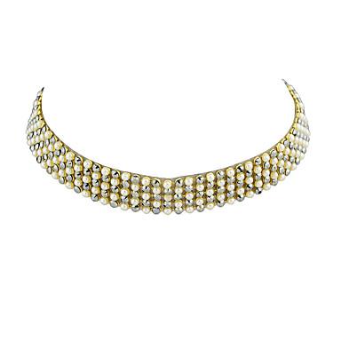 قلادات ضيقة سبيكة تصميم بسيط ذهبي مجوهرات إلى فضفاض 1PC