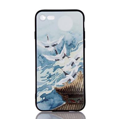 Pentru Ultra subțire Embosat Model Maska Carcasă Spate Maska Animal Moale TPU pentru AppleiPhone 7 Plus iPhone 7 iPhone 6s Plus/6 Plus