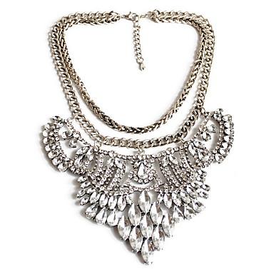 Damskie Oświadczenie Naszyjniki Biżuteria Biżuteria Imitacja diamentu StopModny Osobiste euroamerykańskiej Wyrazista biżuteria luksusowa