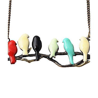billige Mode Halskæde-Halskædevedhæng Smykker Legering Dyreformet Hængende Dyredesign Vintage Euro-Amerikansk Regnbue Smykker Daglig 1 Stk.