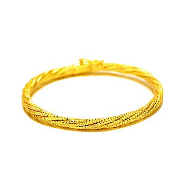 Rannerenkaat Nature Muoti Vintage Kupari Gold Plated 24K Plated Gold Round Shape Korut Käyttötarkoitus Häät Party Erikoistilaisuus