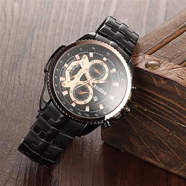 Ceas La Modă Quartz Oțel inoxidabil Bandă Charm Negru Argint Auriu Auriu Negru Argintiu Negru/Argintiu
