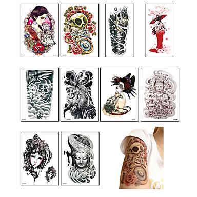 10 Acțibilde de Tatuaj Altele Non ToxicBebeluș Copil Dame Bărbați Adolescent tatuaj flash Tatuaje temporare
