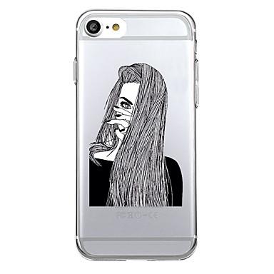 Για Εξαιρετικά λεπτή Διαφανής tok Πίσω Κάλυμμα tok Σέξι κυρία Μαλακή TPU για AppleiPhone 7 Plus iPhone 7 iPhone 6s Plus iPhone 6s iPhone