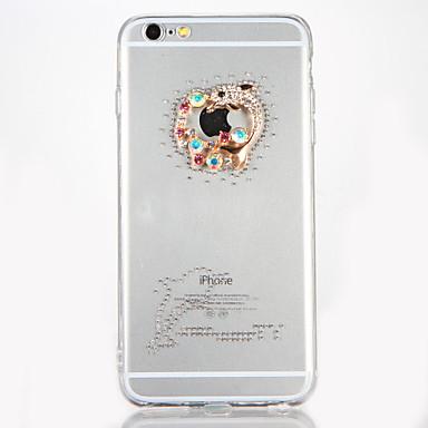 Varten Paljetti DIY Etui Takakuori Etui Piirros Kova Akryyli varten AppleiPhone 7 Plus iPhone 7 iPhone 6s Plus iPhone 6 Plus iPhone 6s