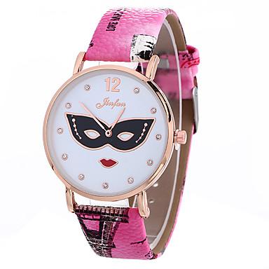 pentru Doamne Ceas La Modă Ceas de Mână Quartz / PU Bandă camuflaj Negru Alb Albastru Roșu Maro Gri Pink VioletMov Fucsia Maro Albastru