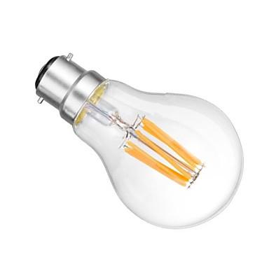 B22 LED-bollampen A60 (A19) 6 leds COB Dimbaar Warm wit 2800-3200lm 2800-3200KK AC 220-240 AC 110-130V
