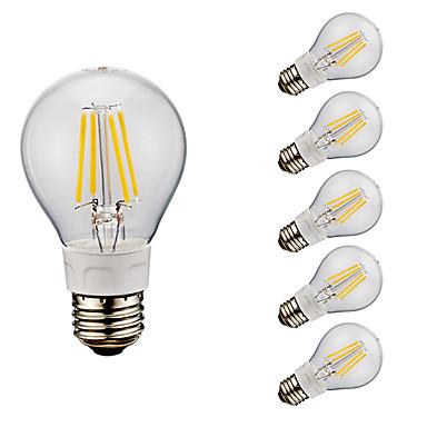 GMY® 6pcs 4W 400/500 lm E26 LED Filaman Ampuller A60(A19) 4 led COB Sıcak Beyaz Serin Beyaz 2700/6500 K AC 110-130 V