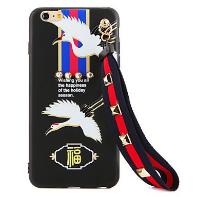 Etui Käyttötarkoitus Apple iPhone 7 Plus iPhone 7 Paljetti DIY Takakuori Piirretty Pehmeä TPU varten iPhone 7 Plus iPhone 7 iPhone 6s